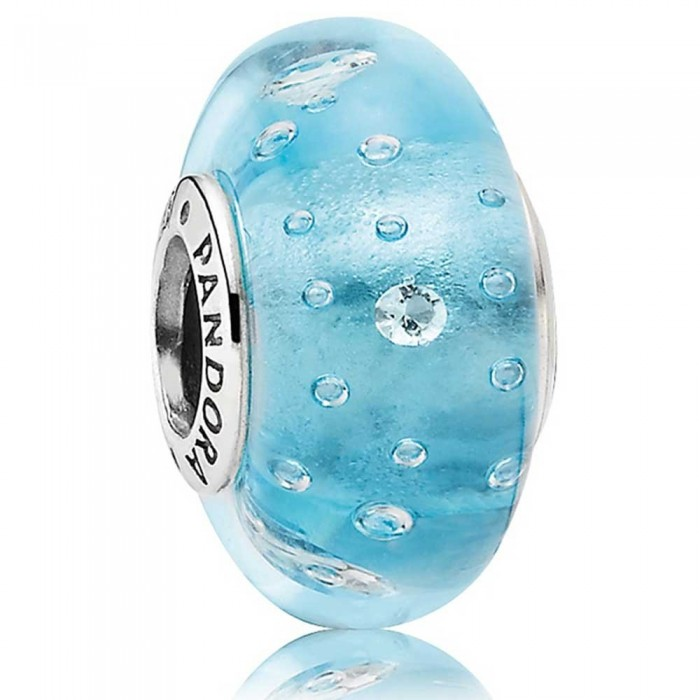 Pandora Beads Murano Glass And Blue Fizzle Charm Jewelry