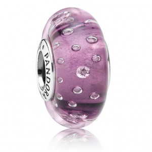Pandora Beads Murano Glass And Purple Fizzle Charm Jewelry