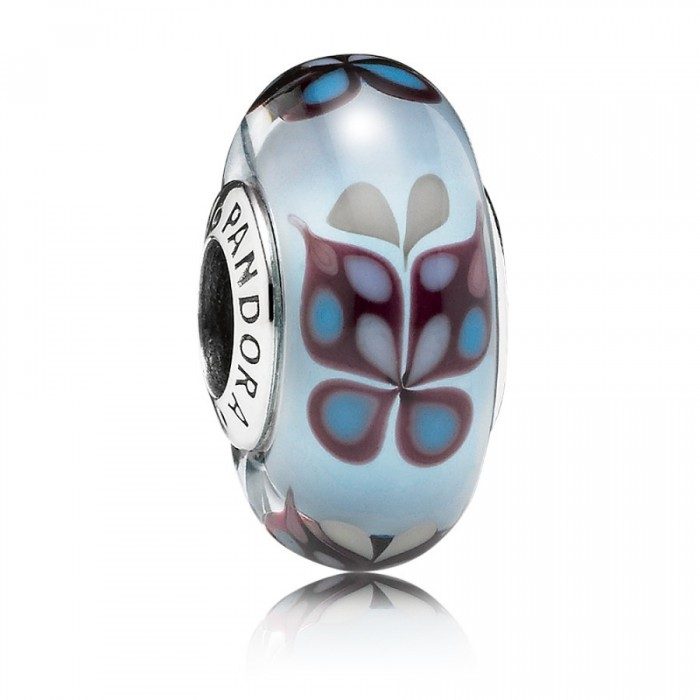 Pandora Beads Murano Glass Blue Butterfly Butterfly Charm Jewelry