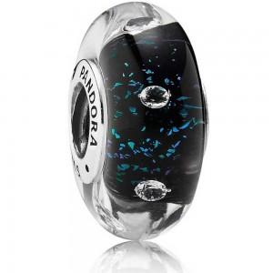 Pandora Beads Murano Glass Midnight Blue Fizzle Charm Jewelry