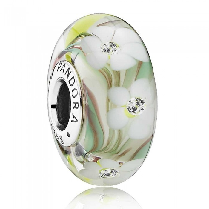 Pandora Beads Murano Glass Multi Coloured Floral Charm Jewelry