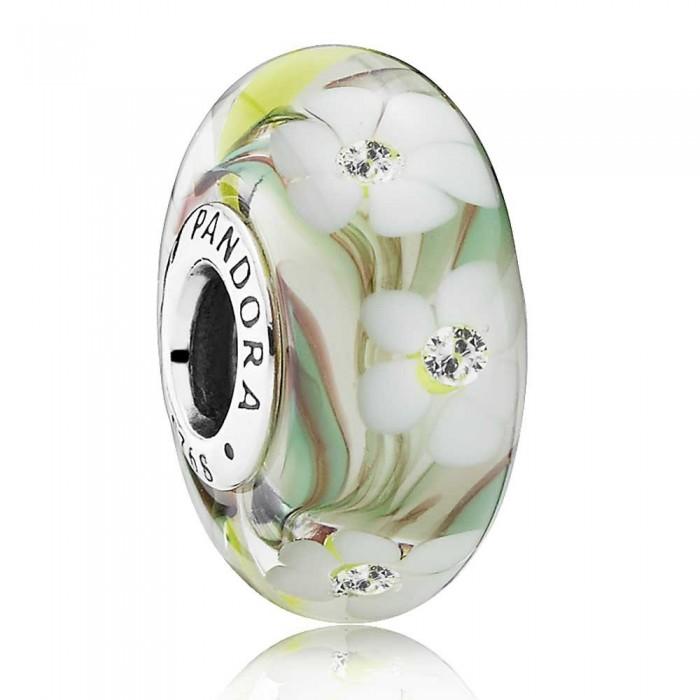Pandora Beads Murano Glass Multi Coloured Floral Charm Jewelry