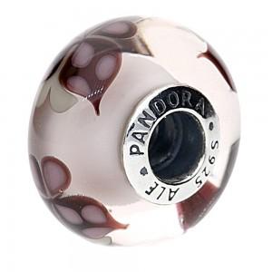 Pandora Beads Murano Glass Pink Butterfly Butterfly Charm Jewelry