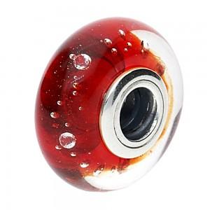 Pandora Beads Murano Glass Red Fizzle Charm Jewelry