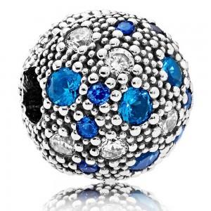 Pandora Clips Blue Cosmic Stars Sterling Silver Jewelry