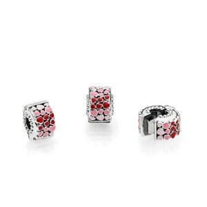 Pandora Clips Burst Of Love Mixed Enamel Jewelry