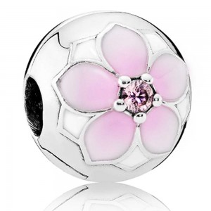 Pandora Clips Magnolia Bloom Floral Jewelry