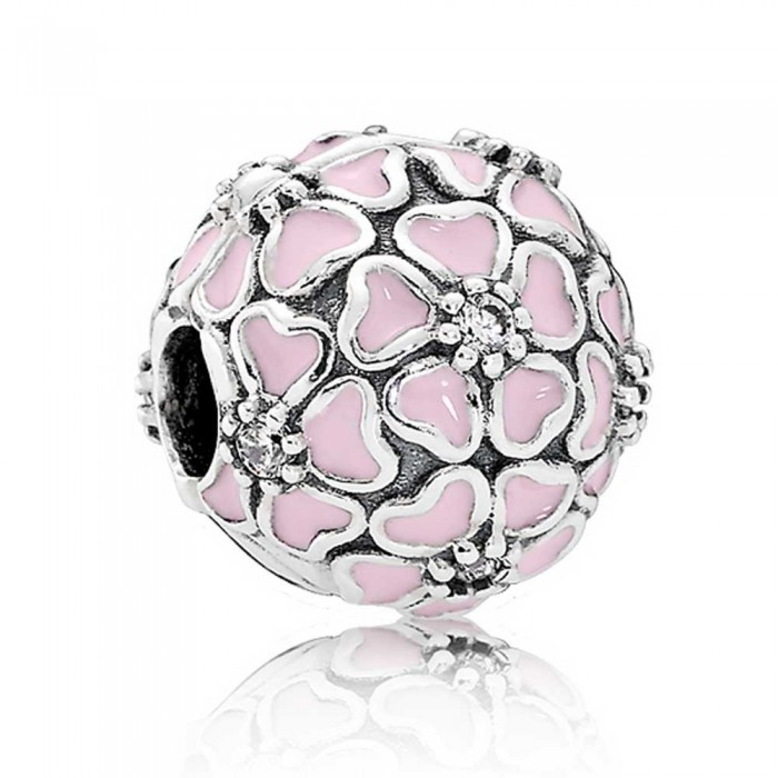 Pandora Clips Pink Cherry Floral Jewelry