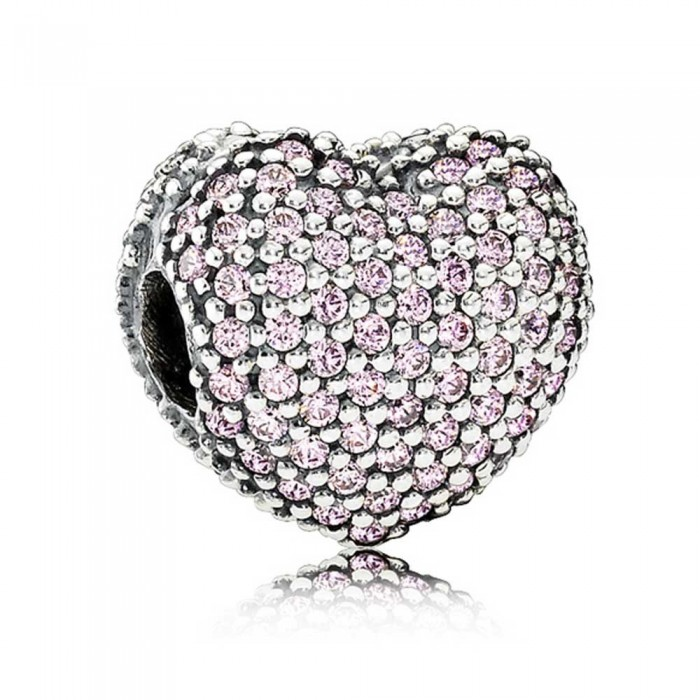 Pandora Clips Pink Open My Heart Love Jewelry