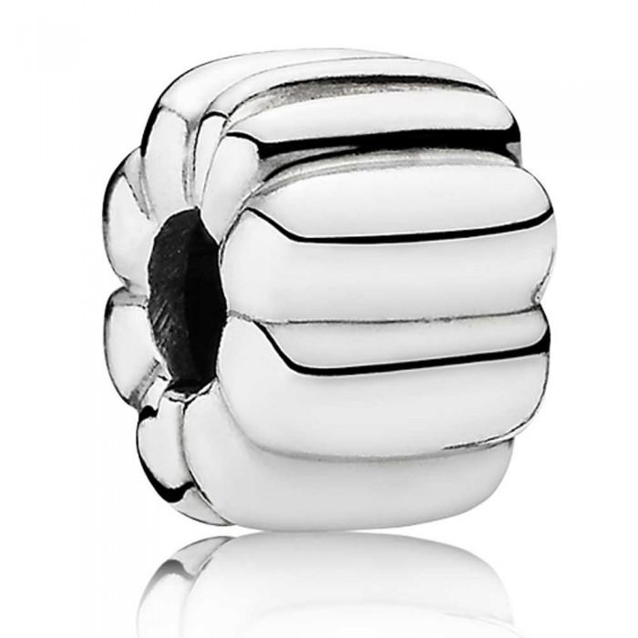 Pandora Clips Ridged Silver Jewelry
