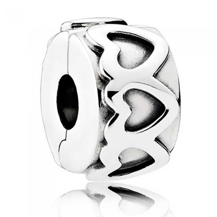 Pandora Clips Row Of Hearts Love Jewelry