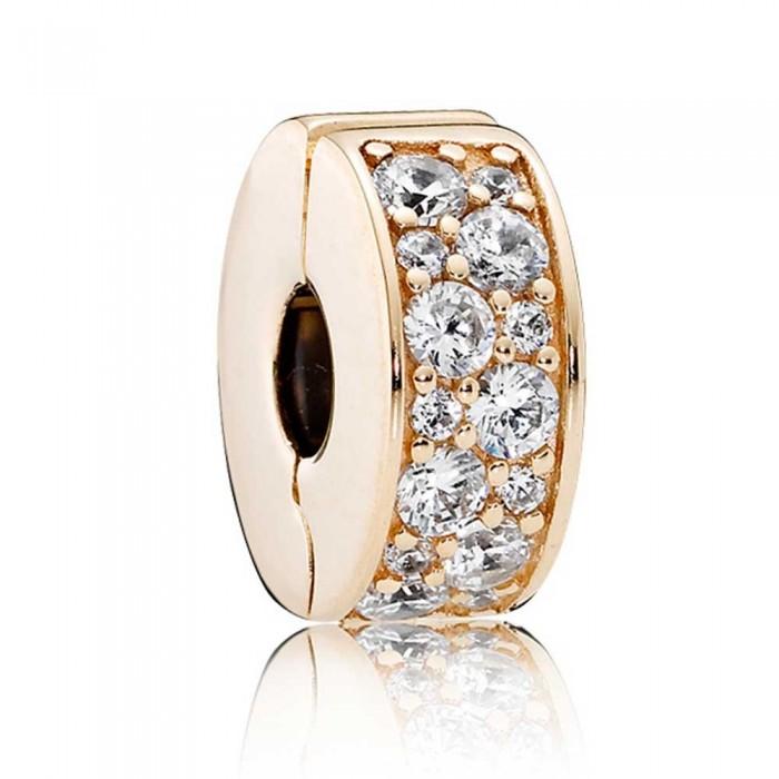 Pandora Clips Shining Elegance Gold Jewelry