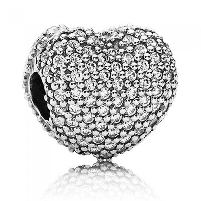 Pandora Clips Silver Heart Love Jewelry
