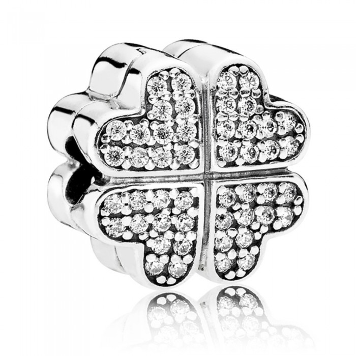 Pandora Clips Silver Petals Of Love Jewelry