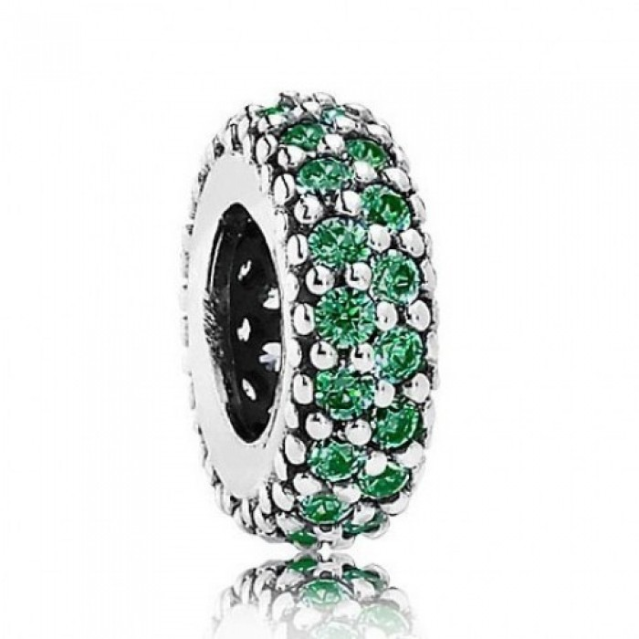 Pandora Spacers Green Silver Jewelry
