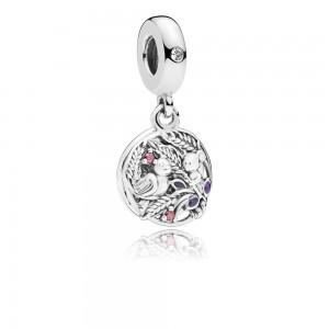Pandora Charm Always By Your Side Dangle Colored CZ Purple Enamel Jewelry