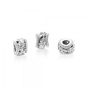 Pandora Charm Dazzling Grain Swirls Clear CZ Jewelry