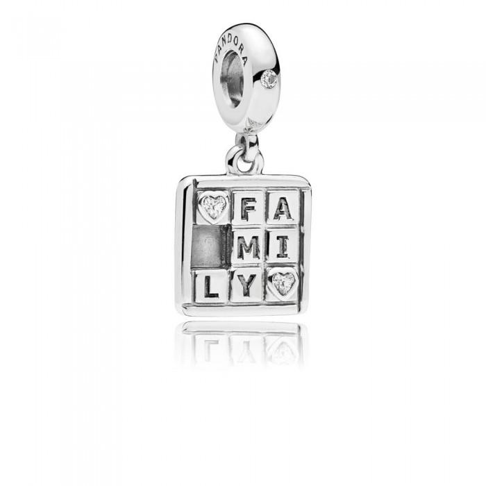 Pandora Charm Family Game Night Dangle Clear CZ Jewelry