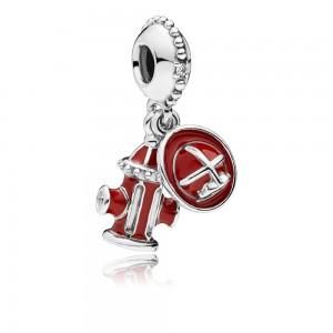 Pandora Charm Firefighter Essentials Dangle Clear CZ Mixed Enamel Jewelry