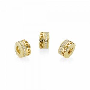 Pandora Charm Hearts of Shine Clear CZ Jewelry
