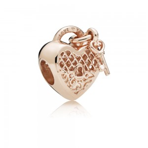 Pandora Charm Love You Lock Rose Jewelry