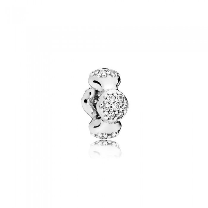 Pandora Charm Modern LovePods Spacer Clear CZ Jewelry