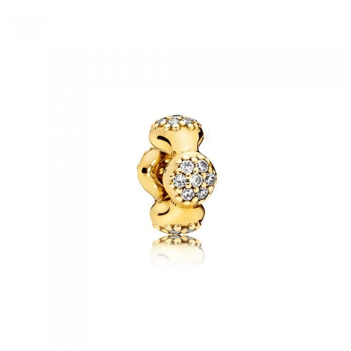 Pandora Charm Modern LovePods Spacer Shine Clear CZ Jewelry