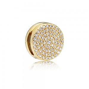 Pandora Charm Reflexions Dazzling Elegance Clip Shine Clear CZ Jewelry