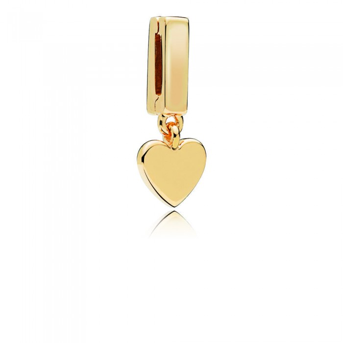 Pandora Charm Reflexions Floating Heart Clip Shine Jewelry