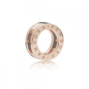 Pandora Charm Reflexions Logo Clip Rose Jewelry