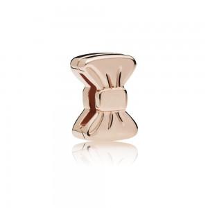 Pandora Charm Reflexions Sweet Bow Clip Rose Jewelry