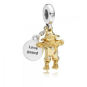 Pandora Charm Scarecrow Guardian Dangle Shine Clear CZ Jewelry