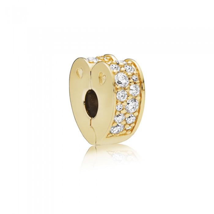 Pandora Charm Sparkling Arcs of Love Clip Shine Clear CZ Jewelry