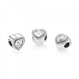 Pandora Charm Sparkling Love Clear CZ Jewelry