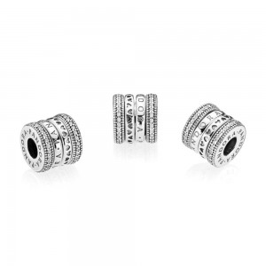 Pandora Charm Spinning Hearts of Clear CZ Jewelry