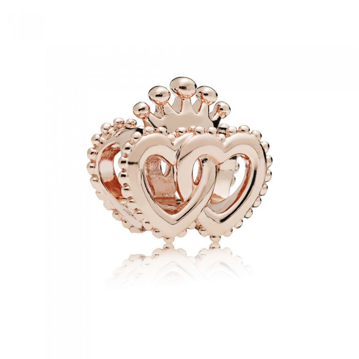 Pandora Charm United Regal Hearts Rose Jewelry