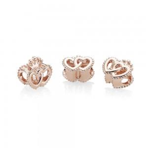 Pandora Charm United Regal Hearts Rose Jewelry
