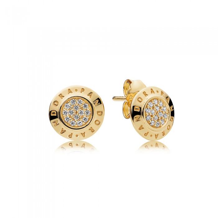 Pandora Earring Signature Shine Clear CZ Jewelry