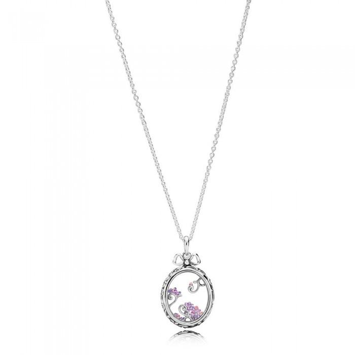 Pandora Necklace Locket of Dazzle Multi Colored CZ Jewelry