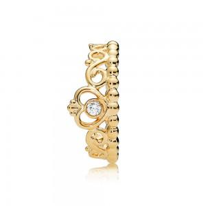 Pandora Ring My Princess Tiara Shine Clear CZ Jewelry