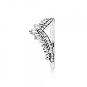 Pandora Ring Princess Wish Clear CZ Jewelry