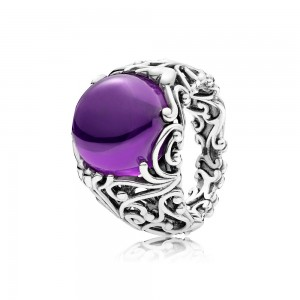 Pandora Ring Regal Dazzling Beauty Purple CZ Jewelry