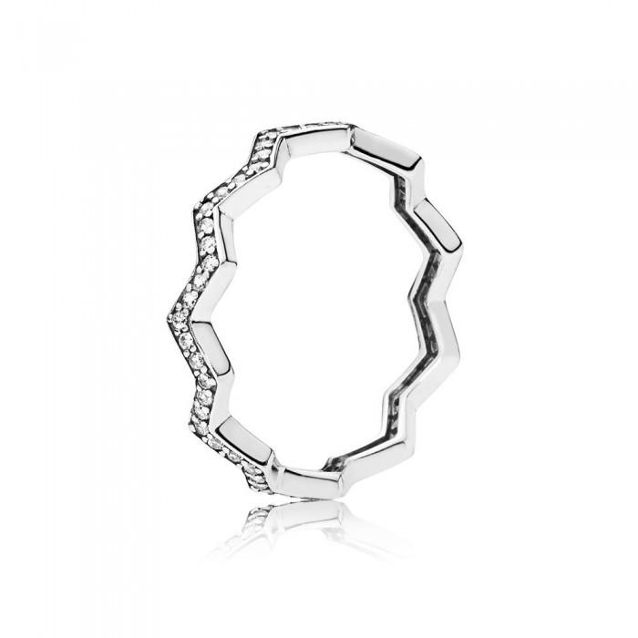 Pandora Ring Shimme Zigzag Clear CZ Jewelry