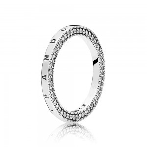 Pandora Ring Signature Hearts of Clear CZ Jewelry