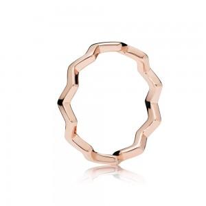 Pandora Ring Timeless Zigzag Rose Jewelry