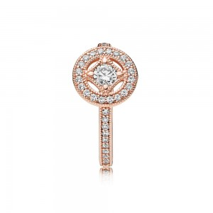 Pandora Ring Vintage Allure Rose Clear CZ Jewelry