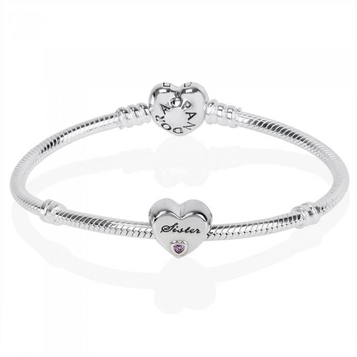 Pandora Bracelet Sisters Love Family Complete CZ Jewelry