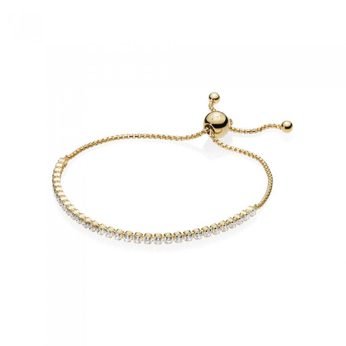 Pandora Bracelet Sparkling Strand Shine Clear CZ Jewelry