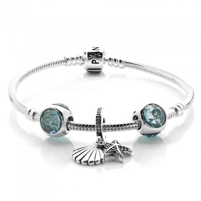 Pandora Bracelet Tropical Starfish Summer Complete Jewelry
