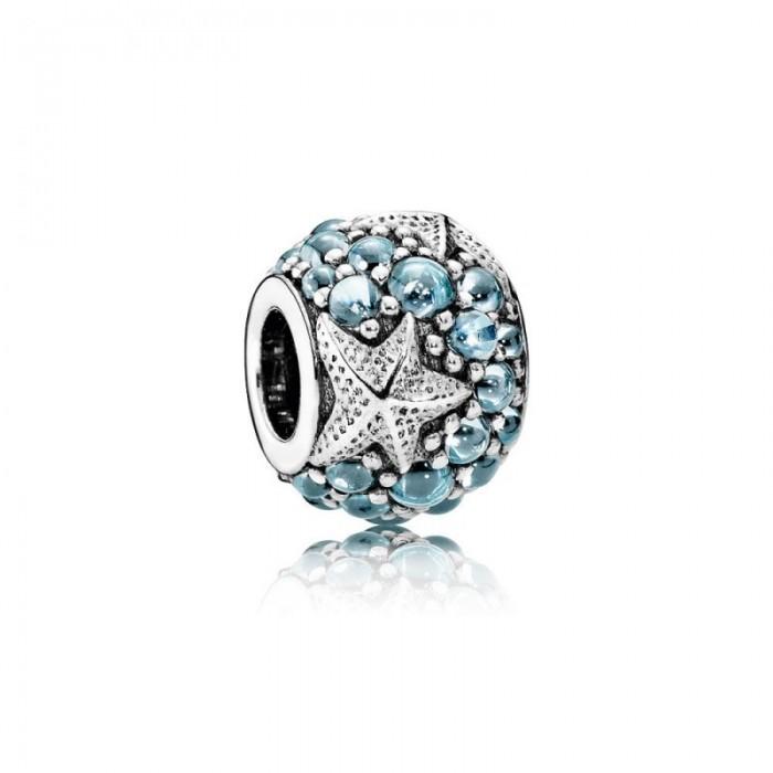 Pandora Charm Oceanic Starfish Frosty Mint CZ Jewelry